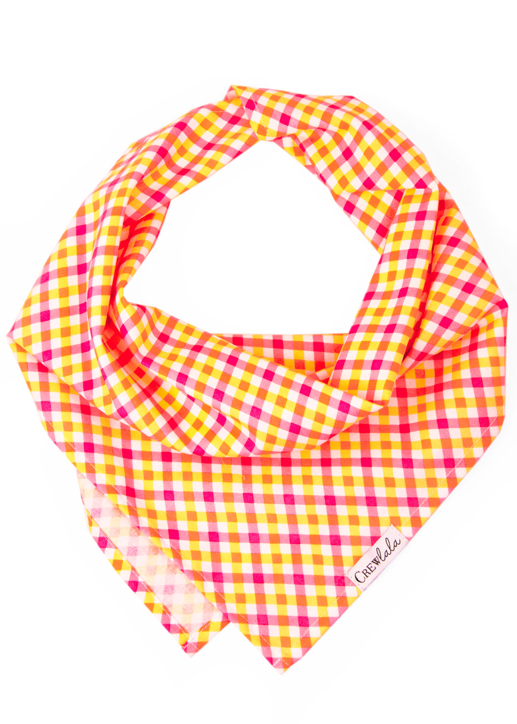 SALE BANDANA - Sweet Tart Plaid Dog Bandana