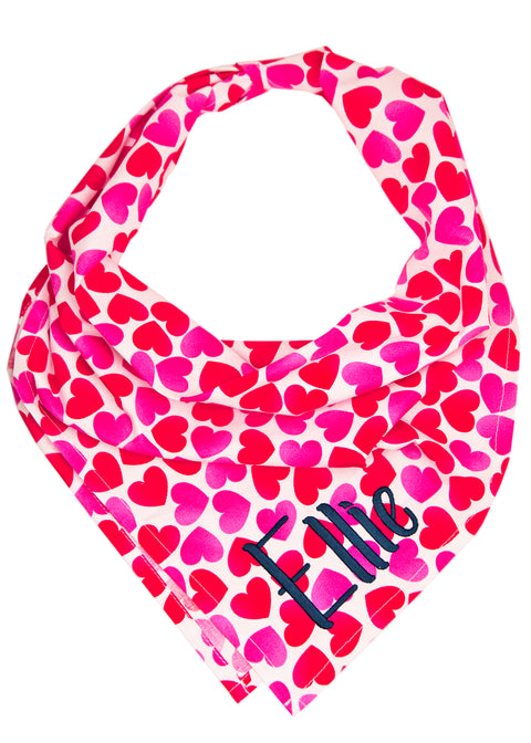 Tinder Hearts Dog Bandana