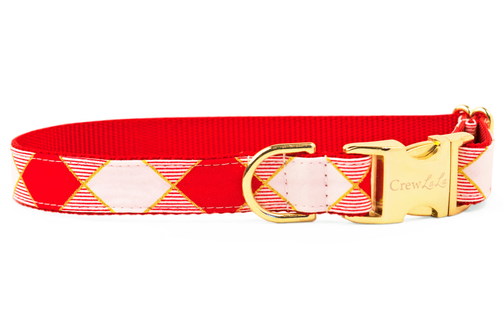 Harlequin Plaid Dog Collar