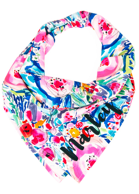 Watercolor Blooms Dog Bandana
