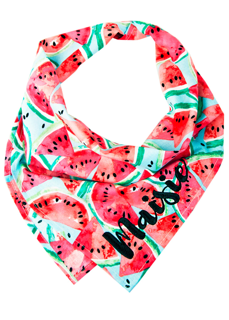 Watercolor Watermelon Dog Bandana