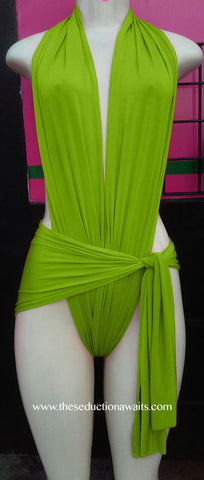 Green Wrap Swimsuit
