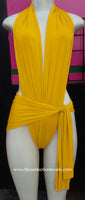Yellow Wrap Swimsuit