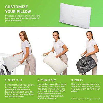 Comfort Therapy Shredded Memory Foam Pillow
