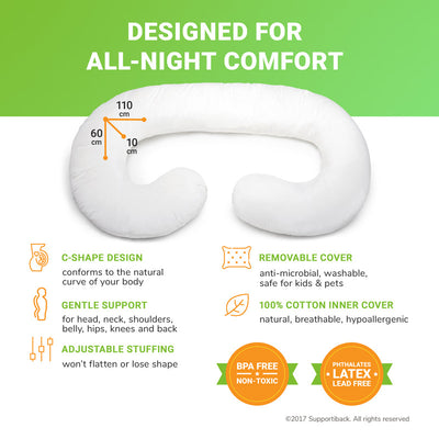 Comfort Therapy C-Shaped Maternity Pillow