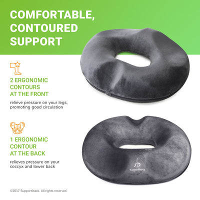 Comfort Therapy Contoured Gel Donut Seat Cushion