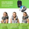 Comfort Therapy CoolGel Memory Foam Neck Pillow + Travel Bag