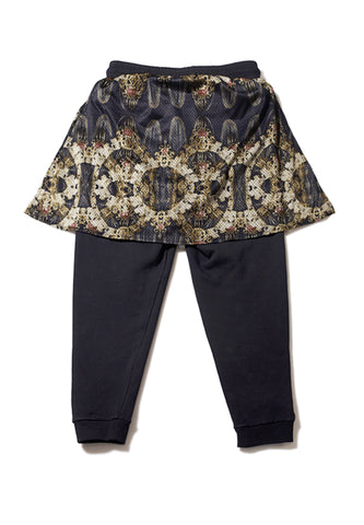 Golden Chain Patches Sweat Pants