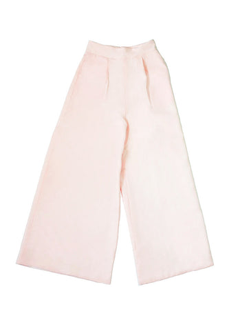 Long Wide Leg Trousers with White Lining