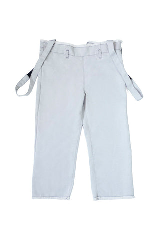 Grey Brace Calf-length Pants