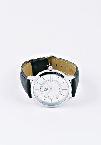 Uni Basic Point Calendar Watch Silver