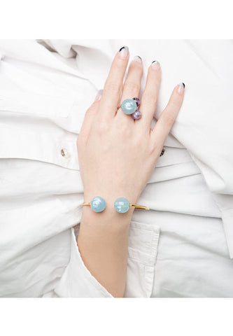 'Cloud' pearl ring