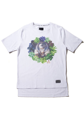 Floral Buddha Cat Tee