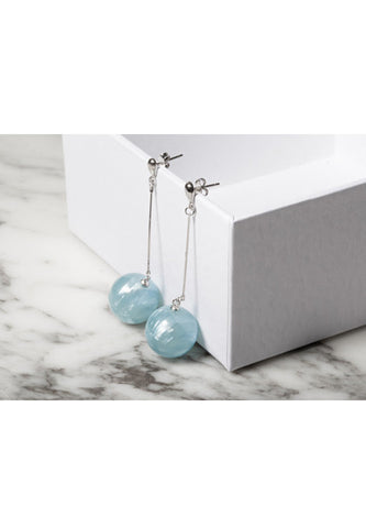 'Cloud' long pearl earring