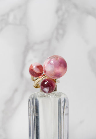 'Forgotten Candy' pearl ring SET