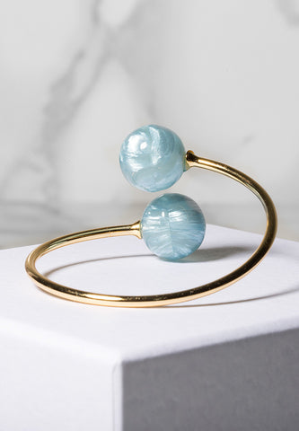 'Cloud' double pearl bracelet
