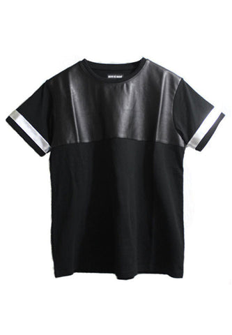 Faux Leather T-Shirt - Silver