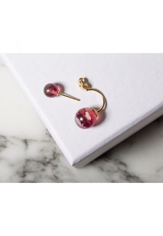 'Forgotten Candy' double pearl earring