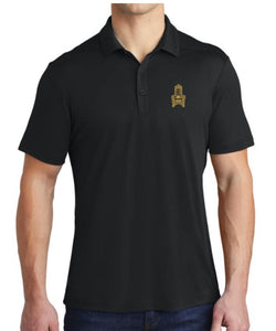 Black Polo With Embroidered KJ Throne