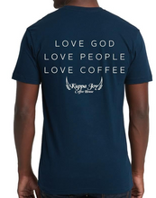 Load image into Gallery viewer, NAVY JOY THRU SHORT SLEEVE