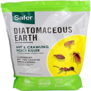 Safer 51703 Diatomaceous Earth-Bed Bug Flea, Crawling Insect Killer 4 Lb