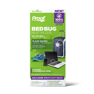 PROOF® Bed Bug Nest Killer₂ (Luggage & Household Items): Front