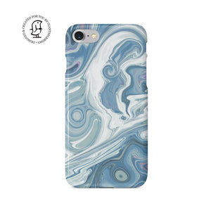 Agate Stone Blue/White Design Case