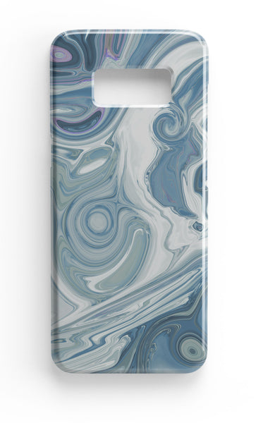 Agate Stone Blue/White Design Phone Case