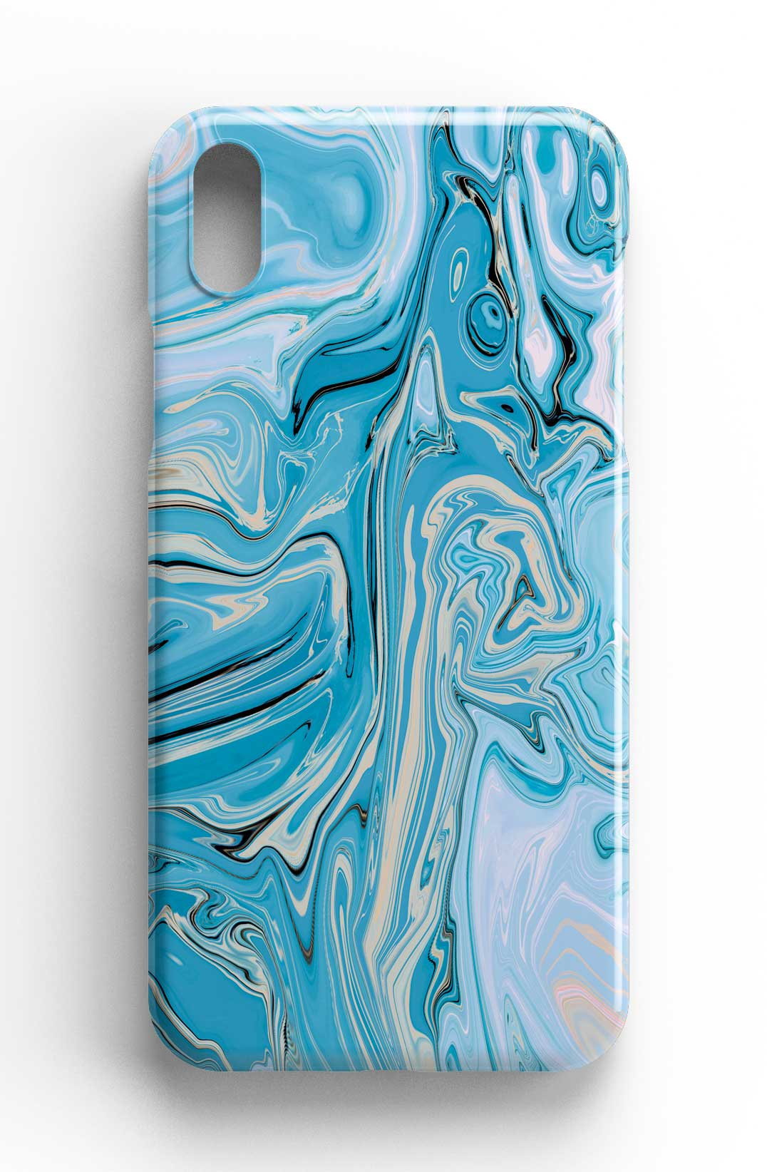 Agate Stone Blue/Cream Design Phone Case