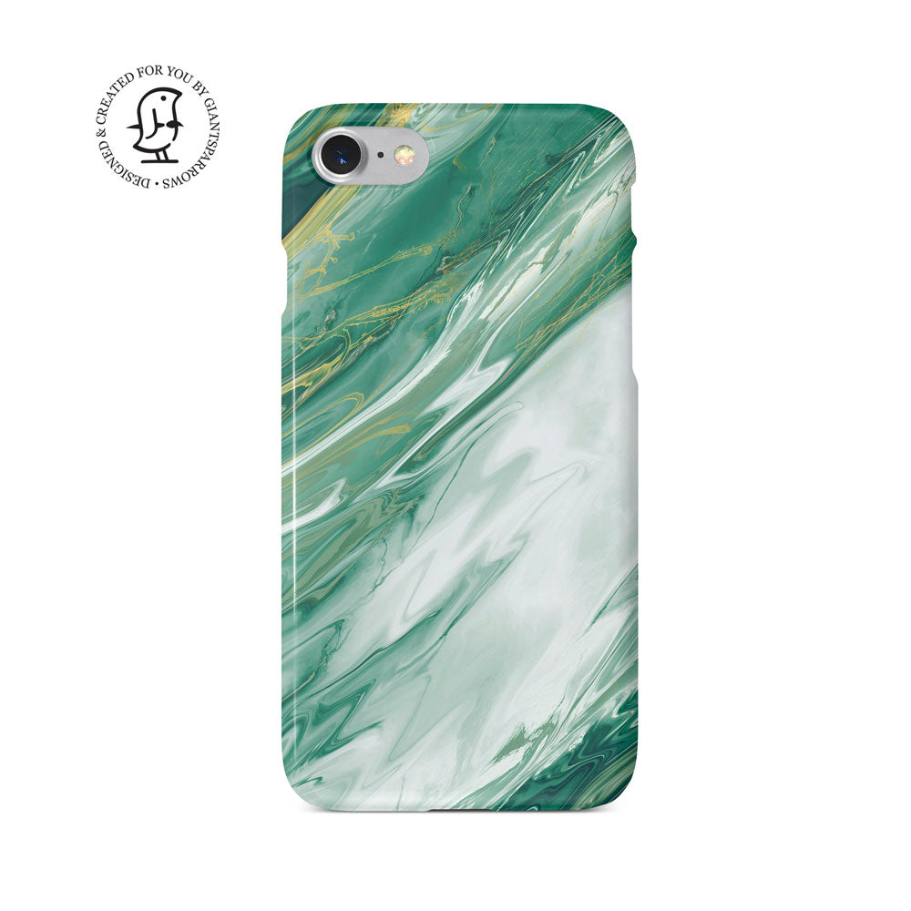 Agate Stone Green/White/Gold Design Phone Case