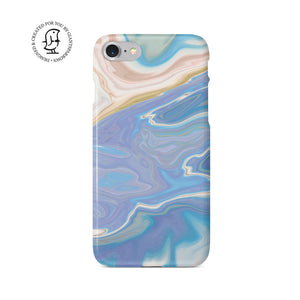Agate Stone Mauve/White/Blue Design Phone Case