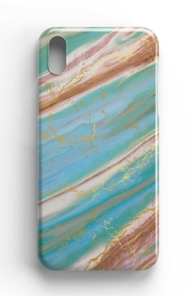 Agate Stone Blue/Green Design Phone Case