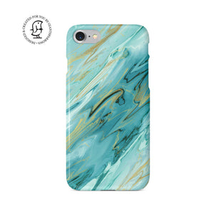 Agate Stone Green/Gold Design Case