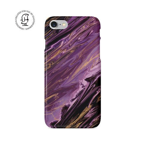 Agate Stone Purple/Gold Design Case