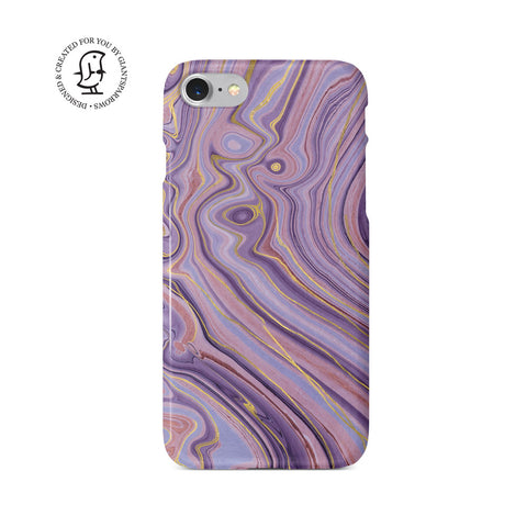 Agate Stone Gold/Purple Design Case