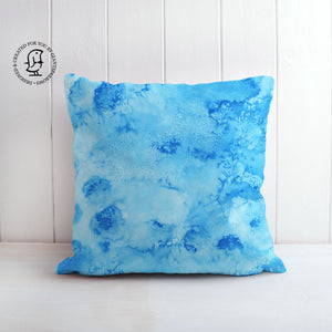 Arctic Space No. 4 Design Cushion - Stunning mix of Blues