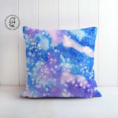 Arctic Space No. 1 Design Cushion - Blue/White & Pink