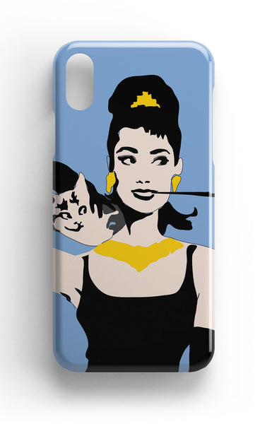 Audrey Hepburn Phone Case in Blue