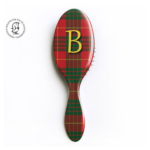 Cameron Tartan Monogram Hair Brush Design