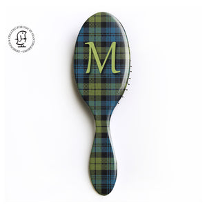 Campbell Clan Tartan - Monogram Hairbrush - Scottish Gift