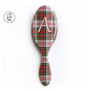 HayStewart Clan Monogram Tartan Hair Brush - Scottish Gift