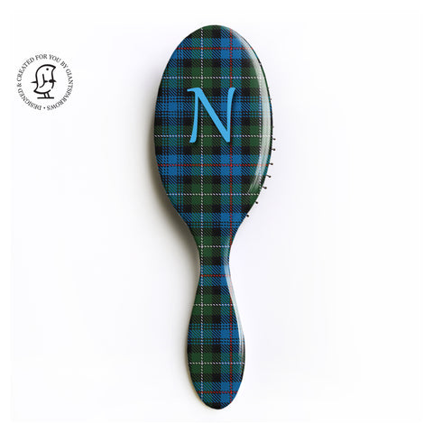 MacKenzie Tartan Hair Brush - Monogram Design - Scottish Giift