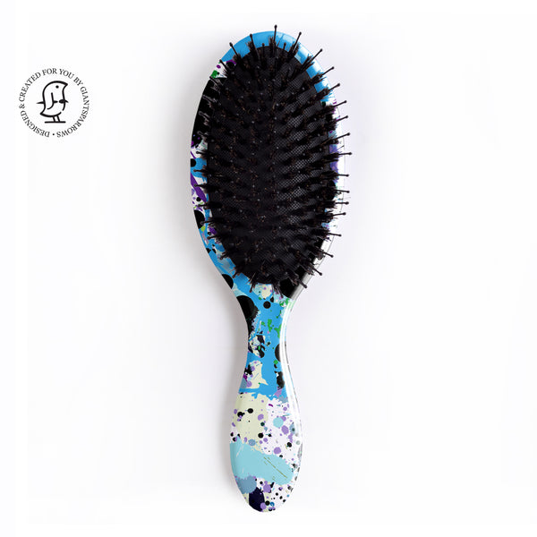 Paint Splatter Hair Brush - Jackson Pollock Inspired - Vibrant Colour Pop Design