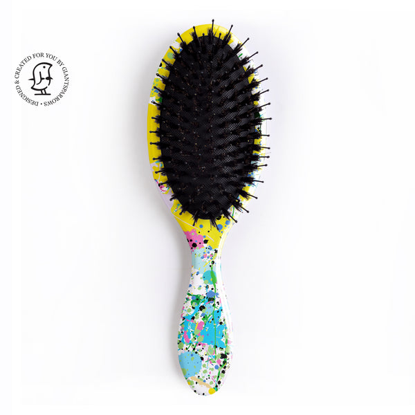 Hair Brush Bold Paint Splatter Design - Jackson Pollock Inspired