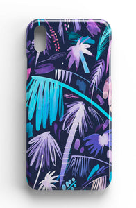 Ninola Design Brushstrokes Palms Purple Phone Case
