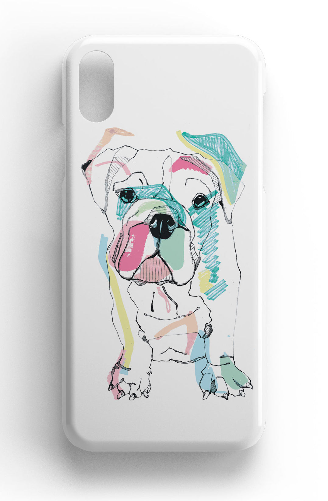 "Casey Rogers Illustrated Phone Case ""Bulldog"""