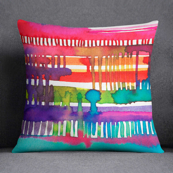 Ninola Design Watercolour Colourful Weaving Loom Cushion