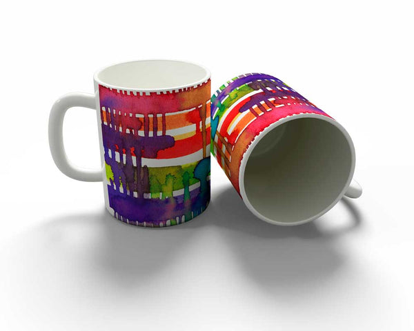 Colourful Weaving Loom Mug