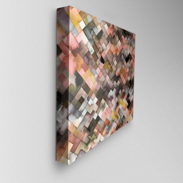 Moody Geometry Rustic Canvas Picture