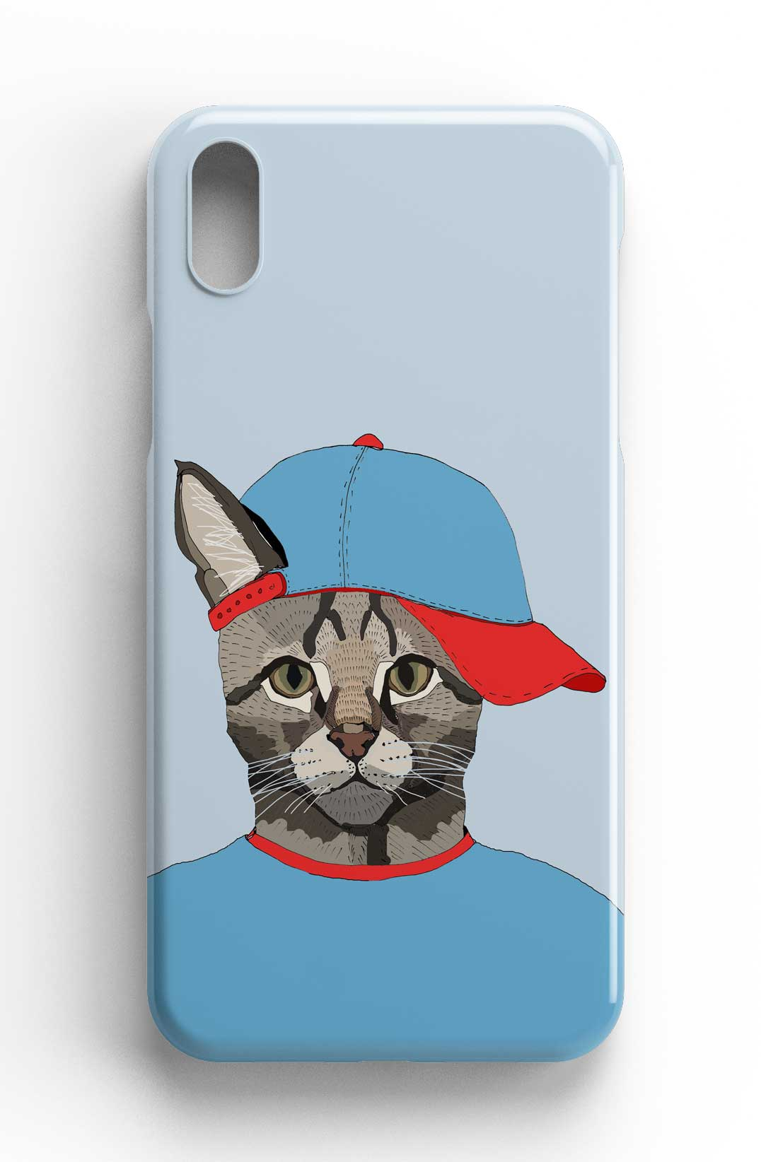 "Casey Rogers Illustrated Phone Case ""Cat with a Cap"""